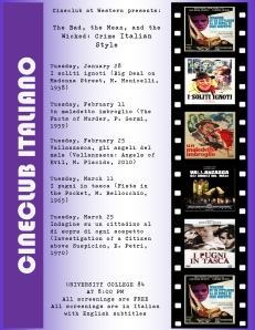 Check out what movies are playing on what nights!
