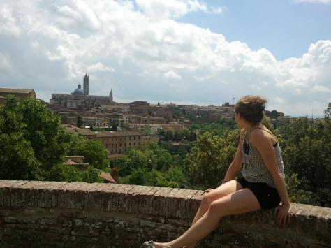 Looking out at the city of Siena