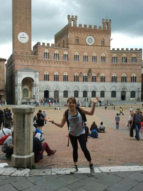 Having too much fun in the piazza – homework can wait