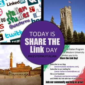 Share Italian Studies at Western University Link to help us grow!