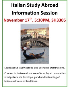 Italian Study Abroad Information Session