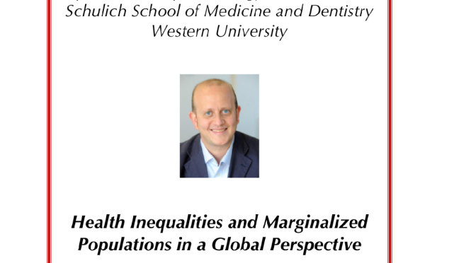 Italian Studies at Rondine Hosts Talk by Dr. Saverio Stranges: Health inequalities and marginalized populations in a global perspective